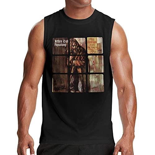 Lsjuee Jethro Tull Camiseta sin Mangas para Hombre Workout Gym Camisetas sin Mangas Negra