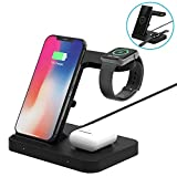 Wireless Charger, DOSHIN 5in1 Fast Wireless Charge Stand for iPhone Airpod Pro/2, Samsung
