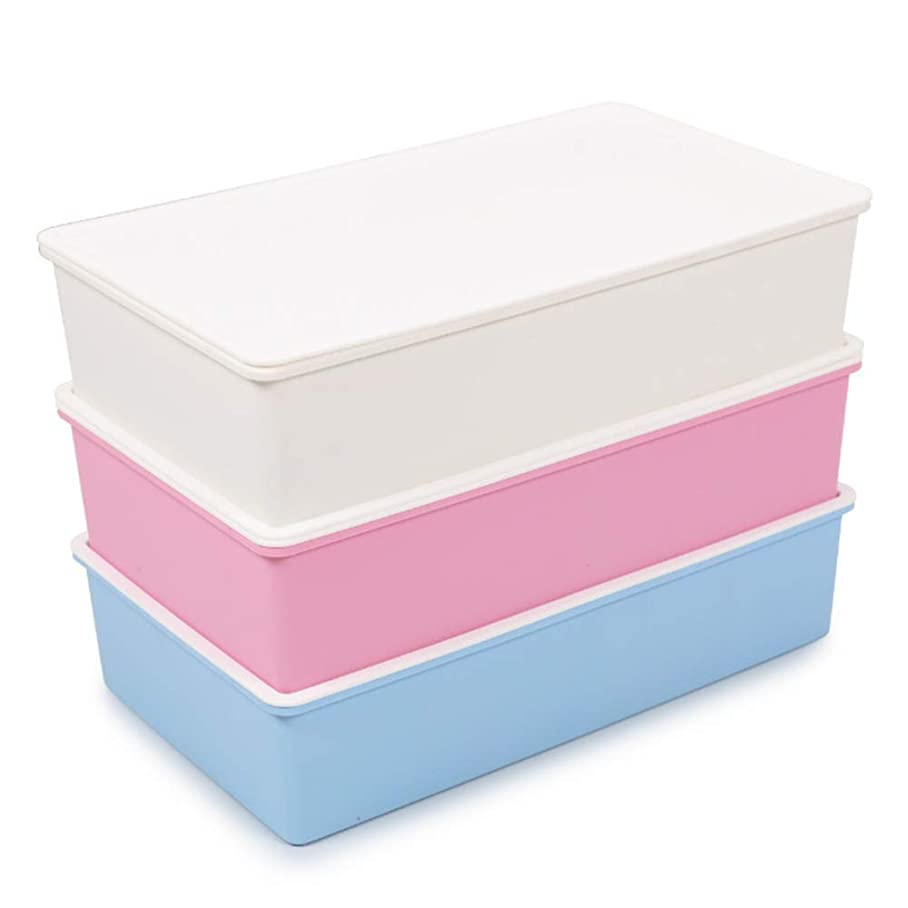 同等の午後再開HZNYH 便利な 下着ストレージボックス引き出しセパレータストレージストレージ折りたたみ収納ボックスキュービックコンテナへのストアソックス下着靴下引き出しを使用することができます (Color : Blue+white+pink)