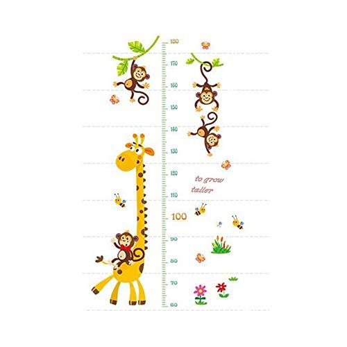 Yunnuopromi - Carta da parati con giraffa e scimmia, per fai da te, decorazione per la casa dei bambini Multicolore