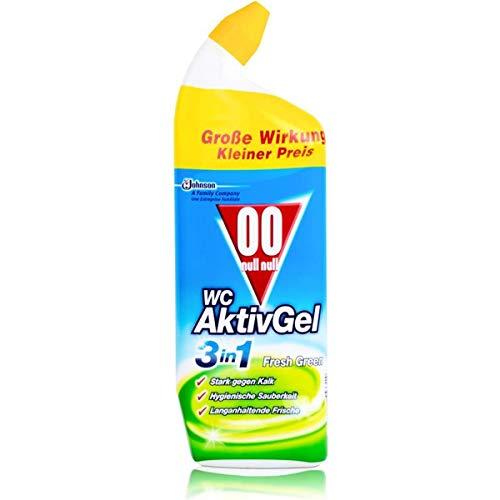 00 null null WC AktivGel Flüssiger WC Reiniger, Für hygienische Sauberkeit, Fresh Green-Duft, 750 ml, WC Aktiv Gel 4in1