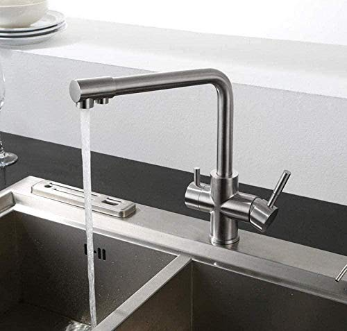 Grifo de cocina Grifo Grifos de cocina Grifos de lavabo de baño Grifos de lavabo Tratamiento de agua Fregadero dos en uno de doble uso Grifo de fregadero frío y caliente Grifo de cocina de bebida dire