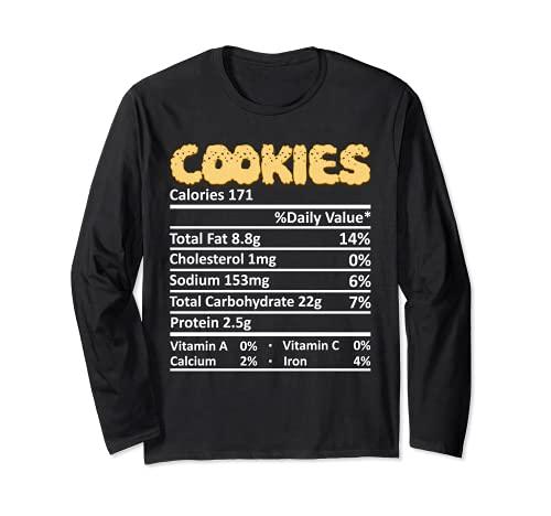 Cookie Nutricin Informacin Alimentaria Disfraz de Accin de Gracias Navidad Manga Larga