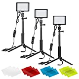 Neewer 3 Pack Portátil Kit de Iluminación Fotográfica Luz de Video LED...