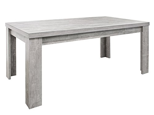 möbelando Esszimmertisch Küchentisch Tisch Holztisch Speisentisch Esstisch Magali I Beton