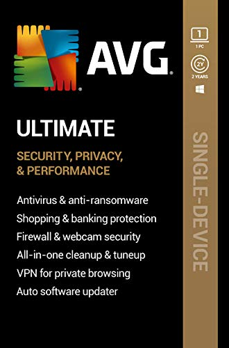 AVG Ultimate 2021 | Antivirus+Cleaner+VPN | 1 PC, 2 Years [Download]