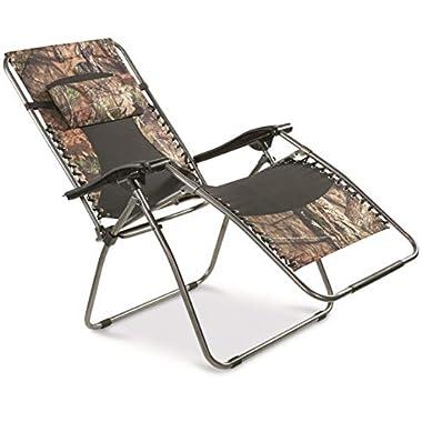 Guide Gear Oversized Mossy Oak Break-Up COUNTRY Zero-Gravity Chair, 500 lb.