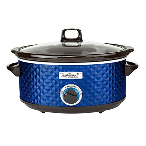 Brentwood SC-157N Slow Cooker, 7 quarts, Navy Blue