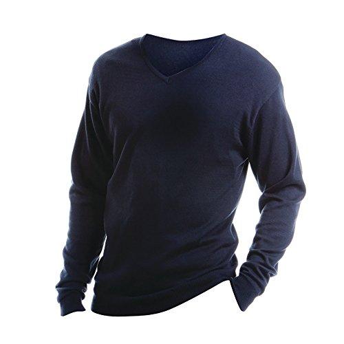 KUSTOM KIT Arundel - Pull à col en V - Homme (2XL) (Bleu Marine)