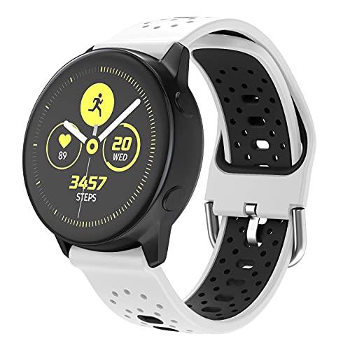 ISABAKE 20mm Armband für Galaxy Watch 42mm/Garmin Vivoactive 3/3 Music/Forerunner 245/645 Music Galaxy Active 2/HR, Quick-Fit Uhrenarmband Schnellwechsel Breite Silikon Smartwatch Ersatzarmbänder