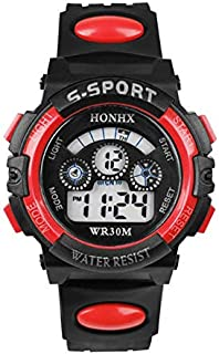 Electrónico luminoso reloj deportivo alarma impermeable reloj de pulsera para estudiantes niños deportes reloj impermeable...