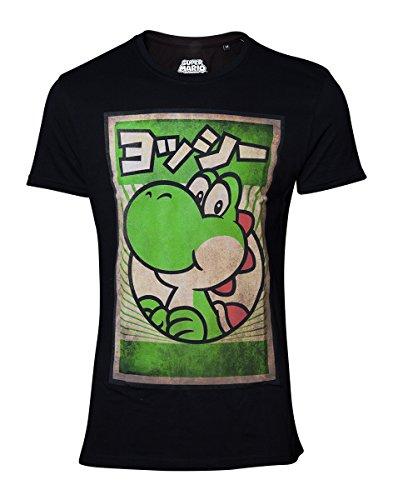 Super Mario Propaganda Yoshi T-shirt noir XXL