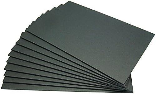 SchwarzStyrol Platte (doppelseitig Schwarzm Papier geklebt Platte) 5 mm Dicke A1 (mehr etwas groesser) 5 Stueck