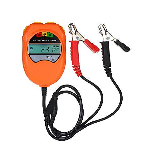 HJJH 12V Autobatterietester, Autodiagnosebatteriesystemtester Auto-Ladeanalysator Für Auto, Fahrzeugbatterielebensdauer-Diagnosetestwerkzeug Boot, Motorräder