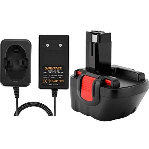 Shentec 12V 3.5Ah Ni-MH Reemplazo para batería Bosch BAT043 BAT045 BAT120 BAT139 2607335542 2607335526 2607335274 2607335709 para Bosch GSR 12-2 12VE-2 PSR 12 GSB 12VE-2 22612 23612 32612 Con Cargador
