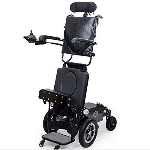 sZeao Silla de Ruedas eléctrica de pie multifunción Anciano Inteligente discapacitado Asiento...