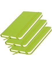 Notebook 3 stks Hardcover PU A6 Business Notepad Hardcover Band Notebook Dagboek Briefpapier Kantoor Schoolbenodigdheden