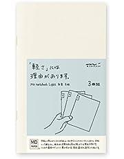 MIDORI MD Notebook Light B6 slank (Gridded) 3 stuks/pak