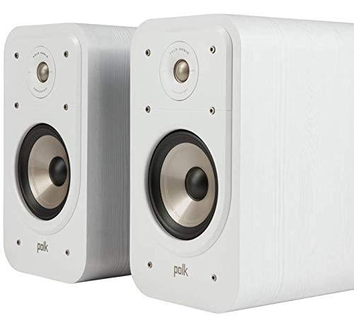Polk Audio Signature S20E Regallautsprecher, Stereo-Lautsprecher, HiFi Lautsprecher für Musik und Heimkino Sound, passiver Full Range Lautsprecher, 20 - 125 Watt, 8 Ohm, High Res, 44Hz - 40kHz (Paar)