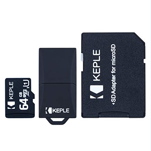 64GB microSD-geheugenkaart | Micro SD Class 10 Compatibel met Vemont, Maifang, Victure, Crosstour, Campark, Camkong Action DBPower, Apeman, VicTsing, Wimius, Akaso Action Cam Camera Phone | 64 GB
