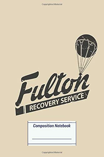 Composition Notebook: Fulton Recovery Service Damaged (Slanted) on White (100 Pages, College Ruled)