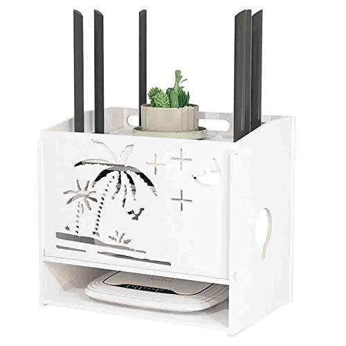 GAO XING SHOP Rack, Wandmontage Schlagenfreier PVC-Speicher-Fernseher Wireless WiFi Set-Top-Box Socket Line Controller