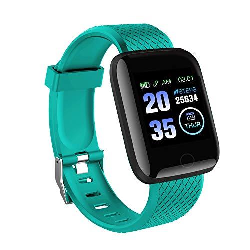 Ajcoflt Smartwatch, Un Reloj Deportivo Inteligente para Controlar La Frecuencia CardíAca Y El SueñO, Pulsera PodóMetro Impermeable Ip67, Medidor De CaloríAs, Compatible con Sistemas iOS Y Android