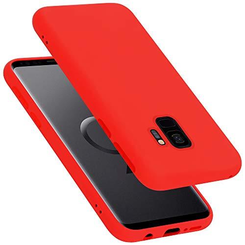 Cadorabo Custodia per Samsung Galaxy S9 in LIQUID ROSSO - Morbida Cover Protettiva Sottile di Silicone TPU con Bordo Protezione - Ultra Slim Case Antiurto Gel Back Bumper Guscio