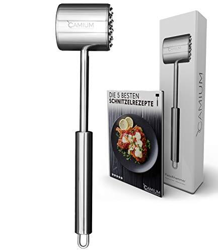 Camium® Fleischklopfer [Spülmaschinenfest] - Schnitzelklopfer - [inkl. Gratis Ebook]