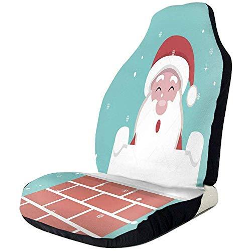 Fall Ing Kerstkaart voor de kerstman binnenin de open haard stoelbekleding autostoelhoezen stoelbekleding autostoelbeschermer autostoelbeschermer geschikt voor de meeste auto's