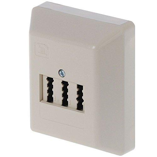 Rutenbeck TAE 2x6/6 NFF AP Telefon-Anschlussdose