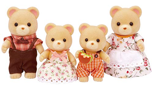 Calico Critters Cuddle Bear Family, Dolls, Dollhouse Figures, Collectible Toys (CC1509)