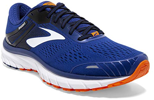 Brooks Defyance 11, Zapatillas para Correr para Hombre, Blue/Orange/White, 40.5 EU