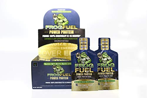 FrogFuel Power Liquid Protein Shot - Berry - 24 1oz. Proven to Boost Immunity. Formula Trusted by 3,500+ Medical Facilities for Complete Protein Nutrition and Proven 2X Faster Healing