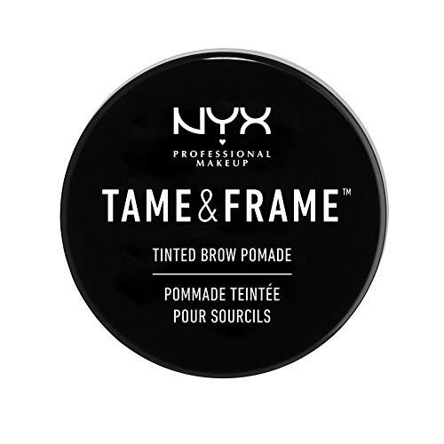 NYX Professional Makeup Tame & Frame Brow Pomade - wasserfeste Augenbrauenpomade, wischfestes Gel in 5 Farbtönen, für Haut & Härchen, 5g, Black 05
