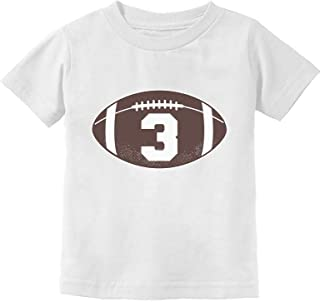Gift for 3 Year Old Boy Football 3rd Birthday Toddler Kids T-Shirt