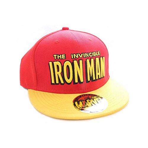 Marvel - Casquette Iron Man - Mixte - Rouge/Jaune - Taille unique (Taille fabricant: Taille unique)