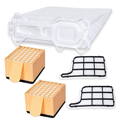Hochwertiges Sparset - 24 Staubsaugerbeutel inkl. Hepa- H12 und Motorschutzfilter - Hygienisches Synthetikmaterial - passend für Vorwerk Kobold 135/136 - Bestleistung beim Saugen