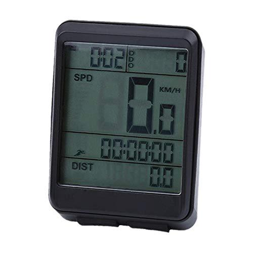 SolUptanisu Fiets LCD Kilometerteller, draagbare waterdichte fietscomputer lichte fietssnelheidsmeter voor mountainbike & racefiets (kabel, draadloos optioneel)