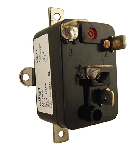 Supco 90290 General Purpose Fan Relay, 4 A Load Current, 24 V Coil Voltage, Single Pole Single Throw Contacts