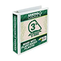 """Earth's Choice Biodegradable Angle-D Ring View Binder, 3"""", White (並行輸入品)"""