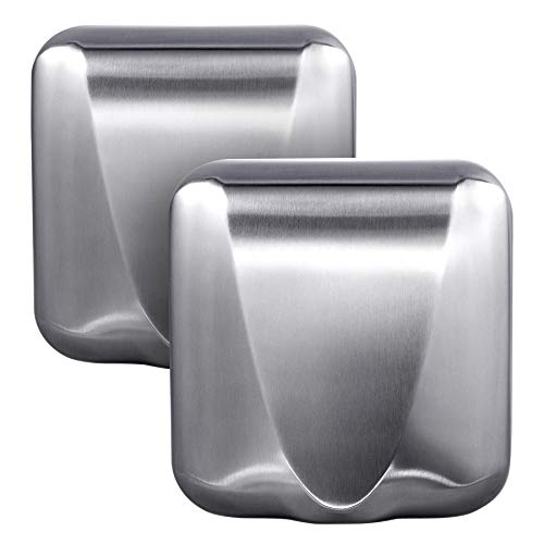VALENS 2PCS Hand Dryer, EfficientMax Electric Hand Dryer for Bathrooms Commercial Home Industrial Mediclinics, High Speed Automatic Hand Dryer Stainless Steel for Restrooms