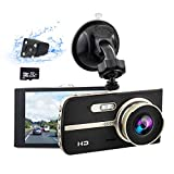 COEO Dash Cam 1080P FHD Front and Rear Camera 3'' LCD Screen 170° Wide Angle Dual Dash Cam,G-Sensor,WDR,Parking Monitor,Loop Recording,Motion Detection,Night Vision,Support 32GB Max