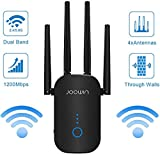 WiFi Extender, AC1200 WiFi Range Extender Signal Booster Dual Band 2.4G&5G Wireless Repeater