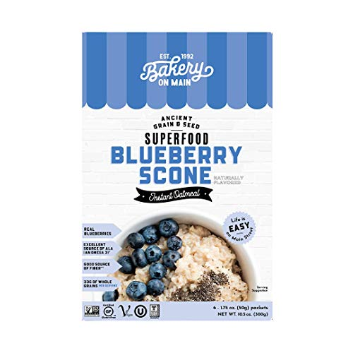 Bakery On Main, Gluten-Free Instant Oatmeal, Vegan & Non GMO - Blueberry Scone, 10.5oz (Pack of 1)