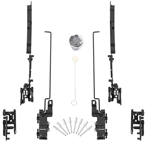 X AUTOHAUX Techo Corredizo Pista Montaje Reparación Kit Con Accesoorios para Coche Negro