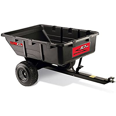 Brinly PCT-10BH 10 Cubic Feet Tow Behind Poly Utility Cart, 650-Pound