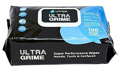 Uniwipe Ultragrime Huge Multipurpose Cleaning Wipes - Pack of 100 by uniwipe