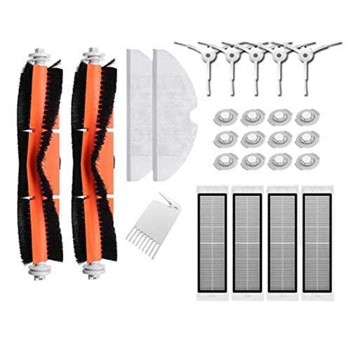 HAOKAN Cepillo principal Hepa Filtro lateral Cepillo trapeador Paños Adecuado para Mi Robot S50 S51 2 Aspiradora Kit de repuesto