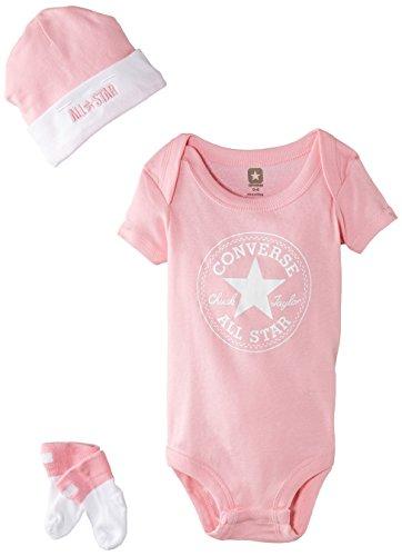 Converse Baby - Mädchen, Bekleidungsset, 3 Piece, GR. 68 (Herstellergröße: 0-6 Months), Rosa (chuck Pink)
